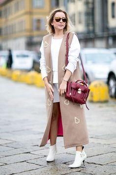 Уличная мода: Неделя моды в Милане сезона весна-лето 2016: уличный стиль
