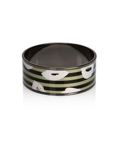 Marc by Marc Jacobs Lipstick Mark Bangle Black/Green Size S-Brand New #MarcbyMarcJacobs #Bangle