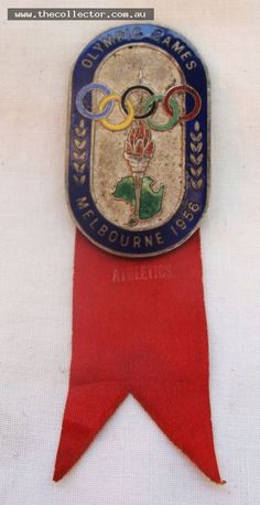 1956 Olympics Enameled Participants badge by K C Luke