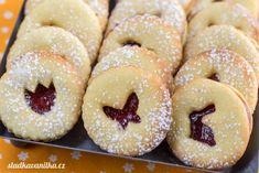 Zámecké linecké cukroví – sladkavanilka.cz Eat Me Drink Me, Christmas Sweets, Doughnut, Foodies, Recipes, Hani, Fit, Rezepte, Food Recipes