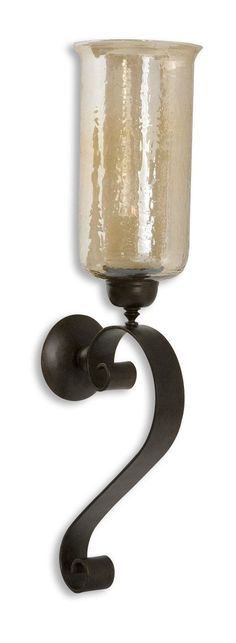 Joselyn Bronze Candle Wall Sconce by Uttermost