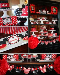Mickey and Minnie Birthday - Mickey Mouse Party - Minnie Mouse Party - PRINTABLE Personalized Party Package on Etsy, $25.00
