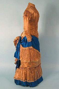 1880 Silk Bustle Dress via Whitaker Auctions