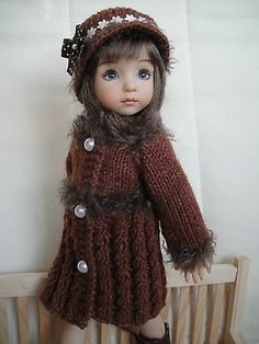 Handknitted Outfit for Little Darling Doll 13 inches Dianna Effner New | eBay. Sold 12/7/13 for $52.00