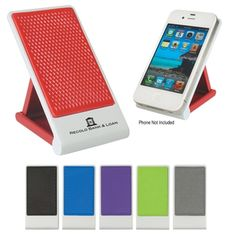 The Anti-Slip Custom Cell Phone Holder keeps phones (and your logo!) always visible on desktops. #epromos