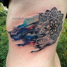 underboob mandala tattoo | Booking Info for David Boggins | American Crow Tattoo