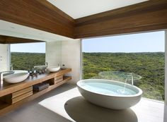southern ocean lodge kangaroo island is a Luxury Hotel Experts 5 Star Hotel. Find southern ocean lodge australia Deals and Complimentary Amenities. Architectural Digest, Zen Bathroom, Bathroom Interior, Lodge Bathroom, Master Bathroom, Bathroom Island, Serene Bathroom, Simple Bathroom, Dream Bathrooms