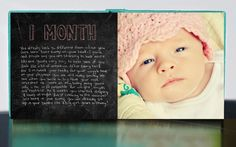 Book to document monthly milestones!