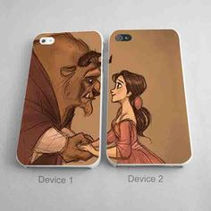 Belle and Adam Couples Phone Case iPhone 4/4S, 5/5S, 5C Series - Hard Plastic, Rubber Case