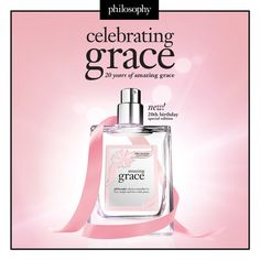 let the celebrations begin...happy 20th to our beloved amazing grace fragrance!