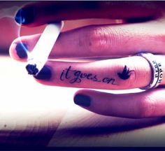 finger tattoo for fashion girls  #tattoo #design #girls www.loveitsomuch.com