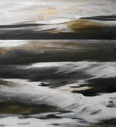 abstrakte Landschaft, Meer, abstrakte Kunst, Conny Niehoff  220/200 cm xxl