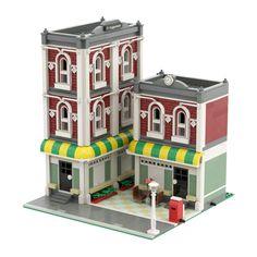 Minecraft City, Lego City, Lego Modular, Lego Group, Lego Architecture, Lego Parts, Lego House, Group Of Companies, Lego Moc