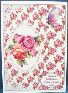 Summer blooms on Craftsuprint designed by Julie Green - made by Cheryl French - Printed onto glossy photo paper. Attached base image to card stock using ds tape. Built up image with 1mm foam pads. - Now available for download!