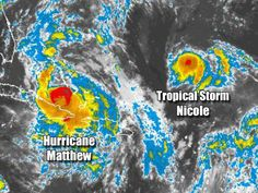 DEVELOPING: Hurricane Matthew and Tropical Storm Nicole could collide. Hurricane Matthew is tearing through the Bahamas today as Florida and the rest of the Southeast United States prepare for the worst. Hurricane watches and