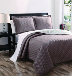 King X  Shams King X Luxbed Chic Home Demi Quilt