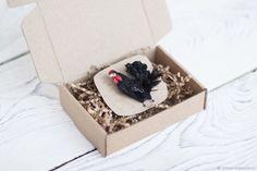 Объемная брошь черный петух – купить в интернет-магазине на Ярмарке Мастеров с доставкой