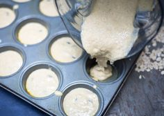 Annessa Chumbley RD - Banana Split Blender Muffins. Mix in Vitamix and pour into muffin tins to bake!