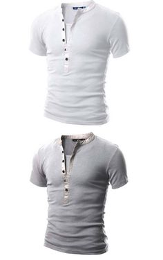 New style Mens Fashion slim fit cotton t shirt decorated with buckle Men's short-sleeved t-shirt casual tee Asia S-XXL C468
