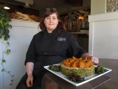 Graze executive chef Karen McAthy makes a vegan pastry alternative from cauliflower and kale.
