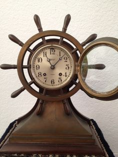 TIFFANY & CO. NEW YORK SHIP'S BELL CHELSEA CLOCK 1918