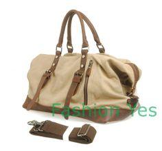 Canvas Genuine Leather Cross Body up handle Messenger Handbag Cow Leather Briefcase / Messenger bag / Laptop bag / Men's Canvas Bag
