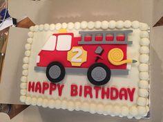 Fire truck cake! #buttercream #firetruck #birthday