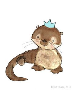 Royal Otter 8x10 Print by trafalgarssquare by trafalgarssquare, $20.00