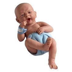"La Newborn 14 Anatomically Correct Boy Baby Doll - ""First Yawn"""