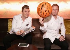 Singers Nick Carter and Brian Littrell of Backstreet Boys attend the 12th Annual MusiCares MAP Fund Benefit Concert Honoring Smokey Robinson at The...