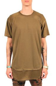 Seize&Desist The Zach Inverted Double Layered Tall Tee (Olive)