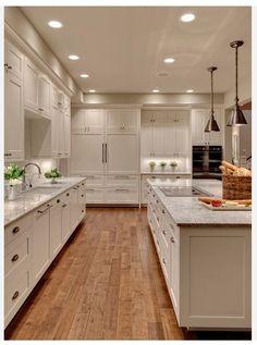 #craftsman style white kitchen