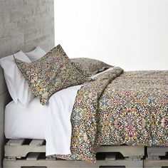 Lucia Bed Linens in Duvet Covers   Crate and Barrel  //  I really like this set, very colorful and ornate, which I think would be great in the new bedroom set up.