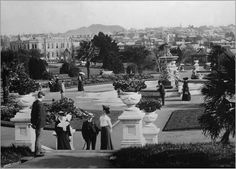 Albert Park bordering on Princes Street, Central Auckland, 1900  Albert Park, Princes Street, Auckland    Special Collections, Auckland City Libraries (N.Z.) [7-A4800]