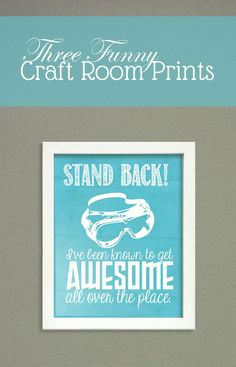 Free Printable Craft Room Prints at Saynotsweetanne.com