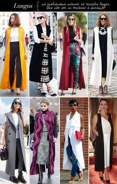 Maxi coletes: inspiração de looks com coletes de alfaiataria bem longos