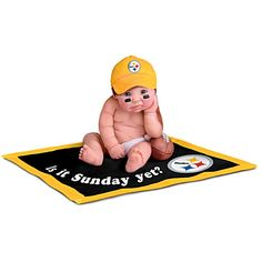 I pinned this to my Steelers board, of course, but it needs to be on my Ohhh Honey board because I really need this adorable little guy!! He's too CUTE!!