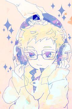 Baby Tsukki tsukishima kei, awe he's so cute Tsukishima Kei, Kuroo Tetsurou, Kagehina, Haikyuu Fanart, Haikyuu Anime, Anime Guys, Manga Anime, Tsukiyama Haikyuu, Twilight