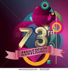 73rd Anniversary, Party poster, party invitation - background geometric glowing element. Vector Illustration - stock vector  #advertisement #age #anniversary #background #badge #banner #birthday #business #card #geomatric #celebrating #celebration #ad #ceremony #certificate #collection #colorful #congratulation #corporate #design #element #event #flat #geometric #happy #icon #illustration #invitation #jubilee #label #marriage #modern #number #party #pattern #ribbon #sign #success #symbol…