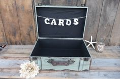 Decorative Wood Wooden Sea Foam Green Suitcase Box and Cards Sign Banner  ~ Photo Prop ~ Wedding Card Keepsake ~ Party ~ Distressed  Country on Etsy, $59.99
