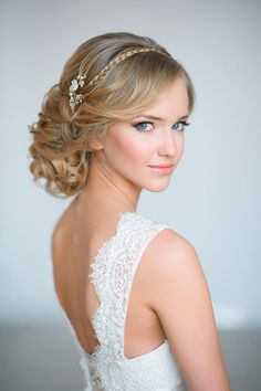 wedding updo braided hairstyles with tiny wedding hair pins