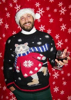 Ugly, Festive (Sexy?) Christmas Sweaters With Cats on Them -- The Cut