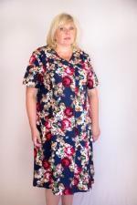 Женский халат большого размера (62 - 72) на пуговицах с коротким рукавом Short Sleeve Dresses, Dresses With Sleeves, High Neck Dress, Casual, Fashion, Turtleneck Dress, Moda, Sleeve Dresses, Fashion Styles