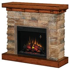 Flagstone Electric Fireplace