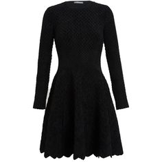 ALEXANDER MCQUEEN Diamond Chenille Knit Dress ($930) ❤ liked on Polyvore featuring dresses, vestidos, alexander mcqueen, longsleeve dress, collared dresses, long sleeve embellished dress, embellished collar dress and embellished dress