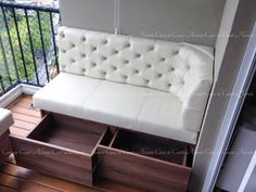 German Corner House - All About Balcony Condo Balcony, Balcony Bar, Small Balcony Decor, Small Balcony Design, Booth Seating In Kitchen, Bar Seating, Patio Furniture Cushions, Balcony Furniture, Studio Apartment Decorating