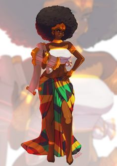 afro princess by TovioRogers on DeviantArt