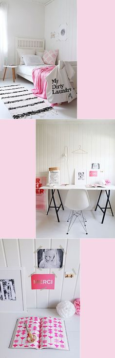 White Bedroom, Pink Details