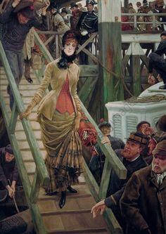 Tissot: Embarquement à Calais, 1884