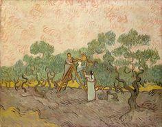 Olive Picking - Van Gogh,  December 1889. Oil on canvas, 72.4 x 89.9 cm. The Metropolitan Museum of Art, New York.